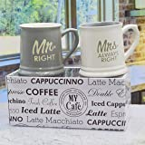 Mug - Mrs.Always Right & Mr.Right - Set of 2 Coffee Mugs Gift Boxed - a great marriage or couples Gift Set 10 ounce