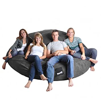 Stupendous Amazon Com Slacker Sack 8 Feet Round Charcoal Grey Xxxl Machost Co Dining Chair Design Ideas Machostcouk