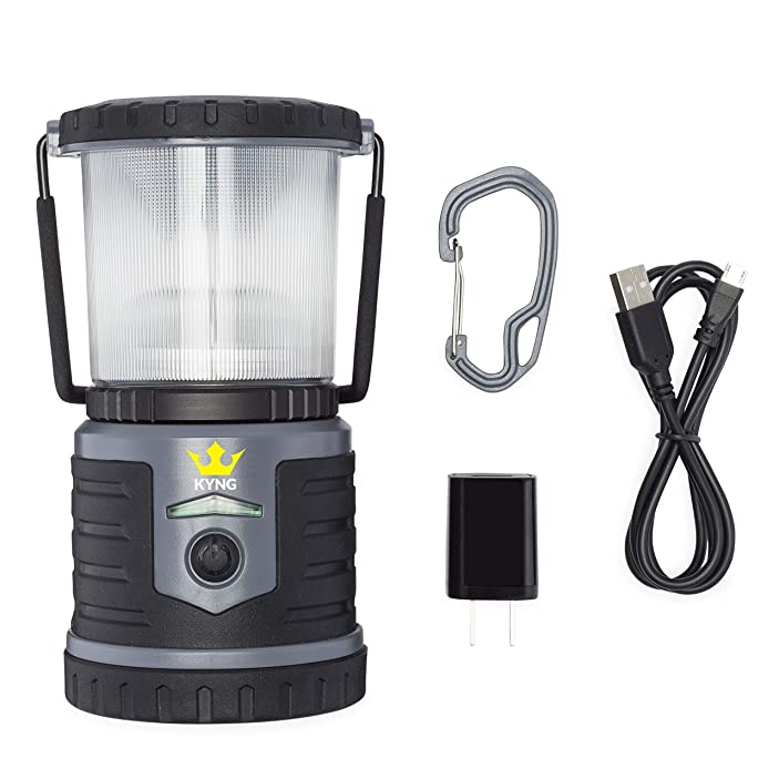 Rechargeable LED Lantern Brightest Light for Camping, Emergency Use, Outdoors, and Home- Lasts for 250 Hours on a Single Charge