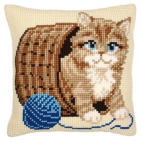 Amazon.com: Vervaco – Kit de punto de cruz, diseño de gatito ...