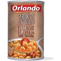 Orlando - Platos Preparados garbanzos Con Chorizo, Lata