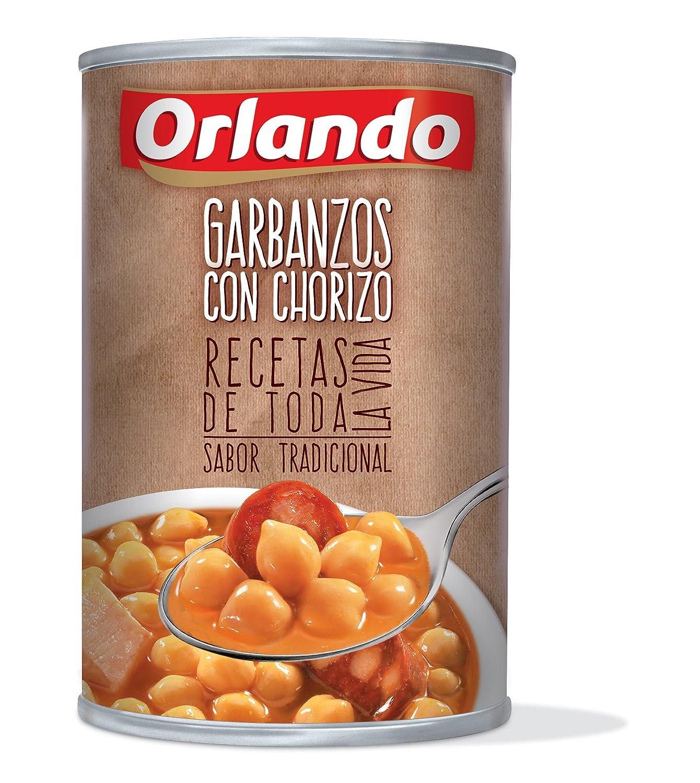 Orlando - Platos Preparados garbanzos Con Chorizo, Lata 425 g: Amazon.es: Alimentación y bebidas