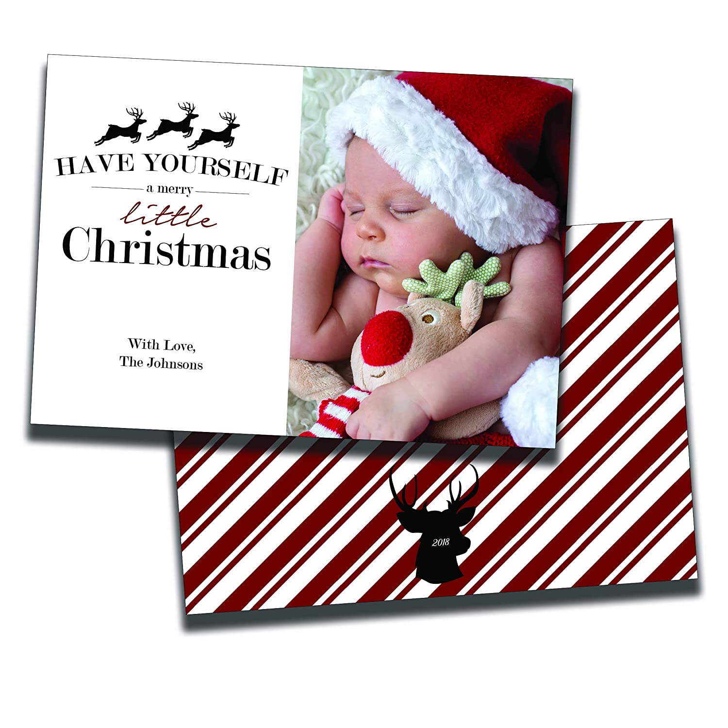 Amazon.com: Have Yourself a Merry Little Christmas   Holiday Photo ...