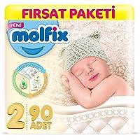 Molfix 3D Bebek Bezi Mini 2 Beden, Fırsat Paketi 90 Adet