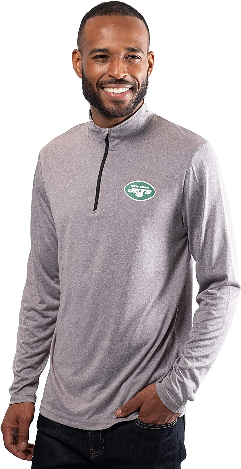 Ultra Game NFL Mens Quarter-Zip Active Pullover Shirt