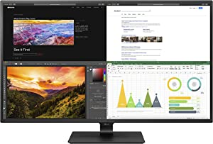 LG 43UN700-B 43 Inch Class UHD (3840 X 2160) IPS Display with USB Type-C and HDR10 with 4 HDMI inputs, Black