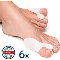 Bunion Correctors Toe Straightener (6 Pieces) Hallux Valgus by YogaMedic - Premium Set - Soft, Comfortable and Long Life - Satisfaction Guarantee - BPA Free