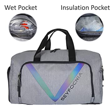 Amazon Com Sports Gym Bag With Shoe Compartment Waterproof