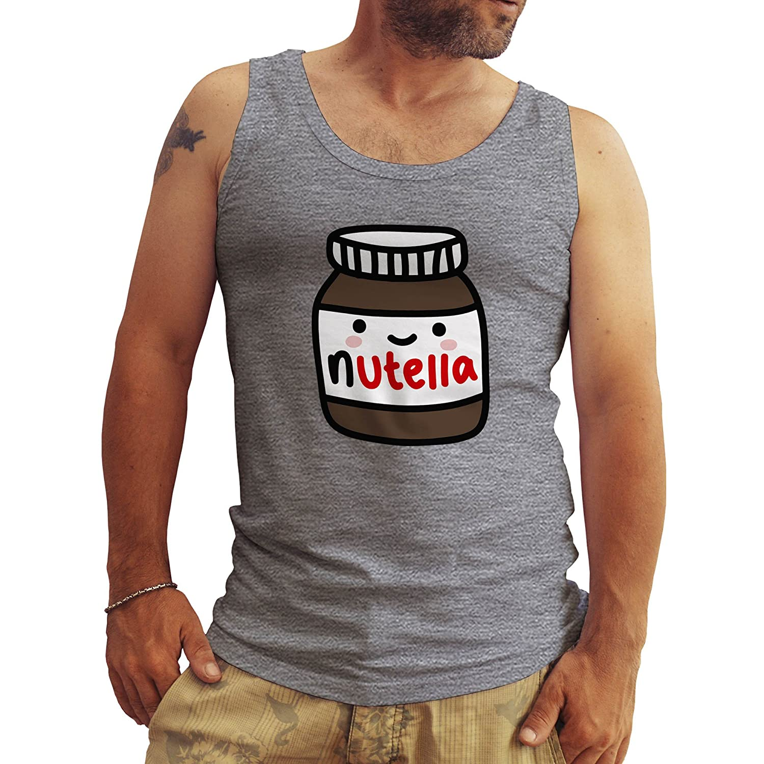 FRIENDLY BEES Nutella Happy Mens Tank Tops