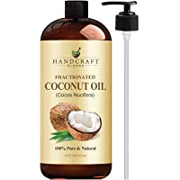 Fractionated Coconut Oil – 100% Pure & Natural Premium Therapeutic Grade - Coconut...