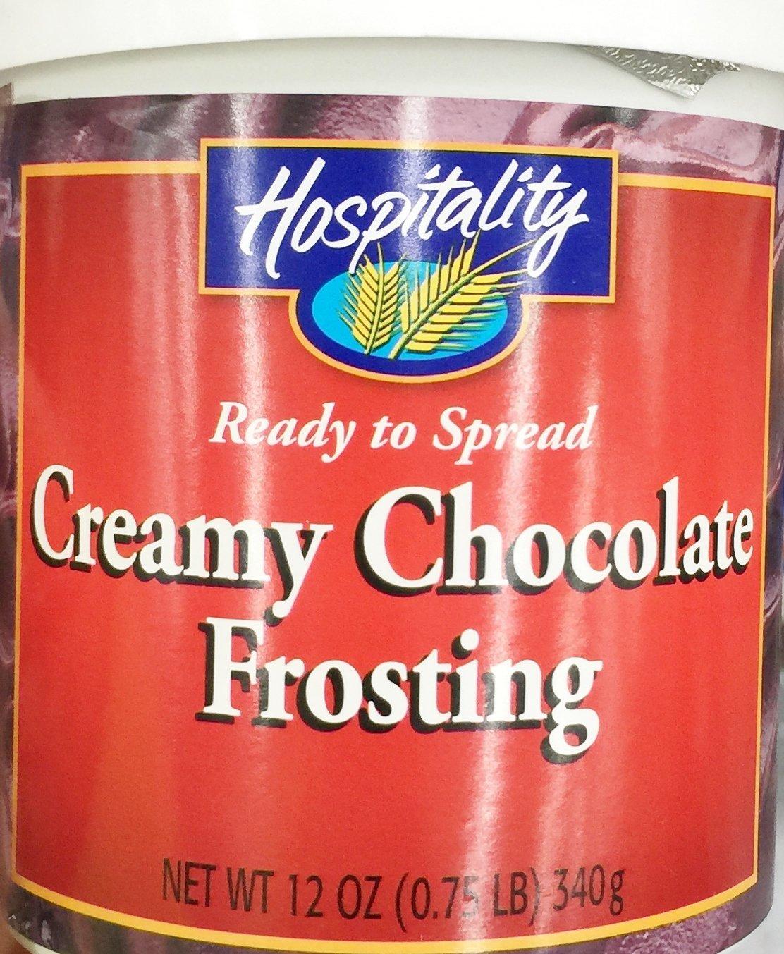 Hospitality Creamy Chocolate Frosting, 12 oz