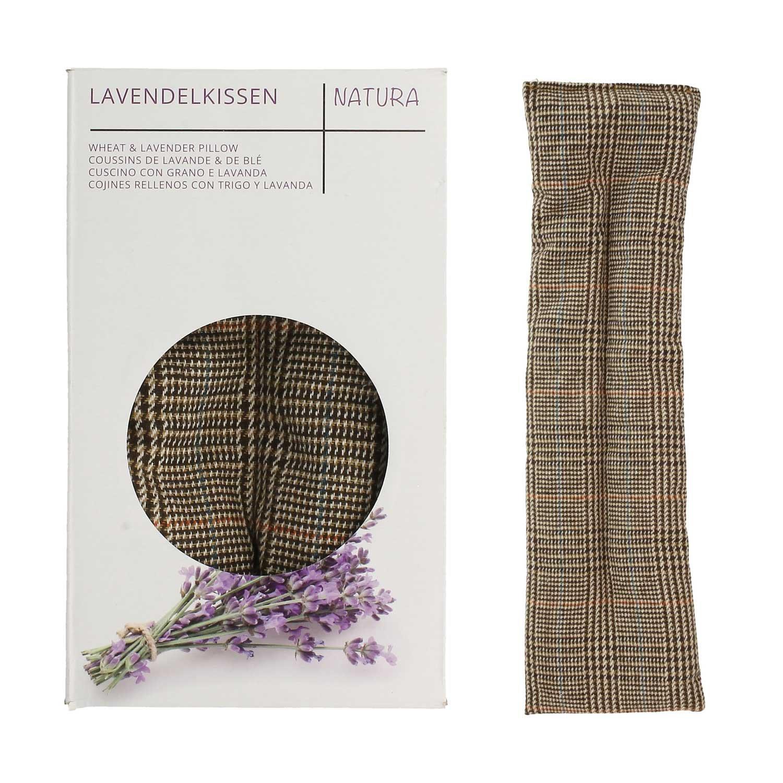 UMOI Coussin de lavande & blé pour détente et bien-être à réchauffer au four ou au micro-ondes - 700 GR lavande & blé 42cm x 12cm (British)