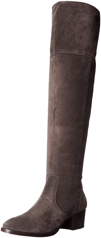 FRYE Women's Clara OTK Suede Slouch Boot B018YLXFOE 8.5 B(M) US|Smoke
