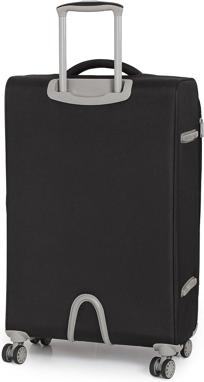 it luggage Quilte 8 Wheel Lightweight Semi Expander Suitcase Cabin Maleta 56 cm