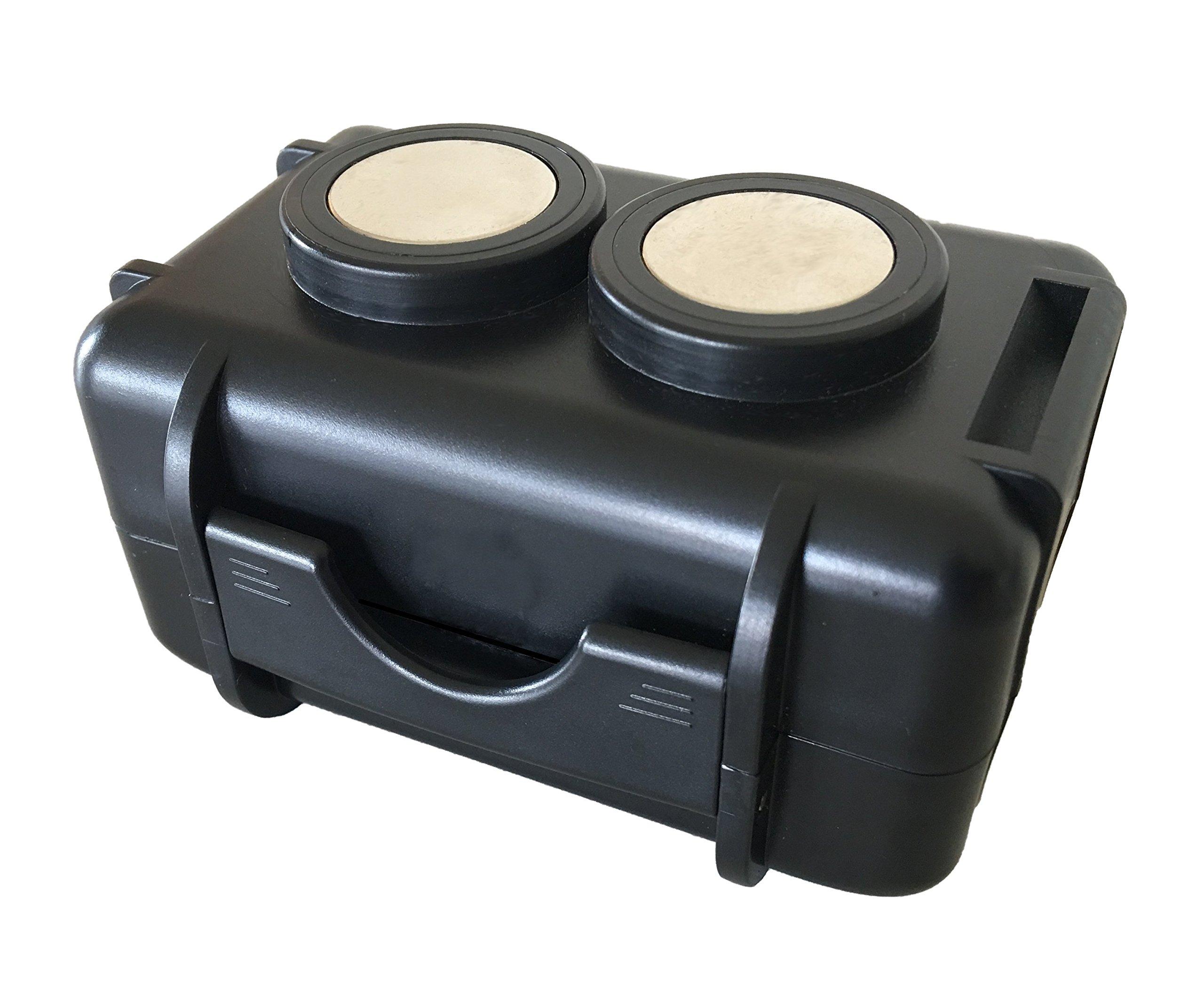 Optimus Twin Magnet GPS Tracker Case - Waterproof - Neodymium Magnets by Optimus Tracker