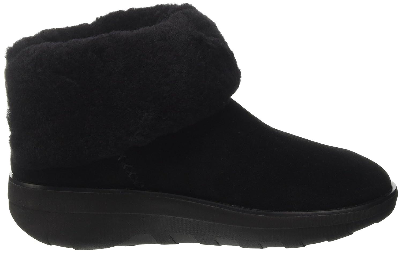 FitFlop Mukluk Shorty 2 Shimmer Boots, Bottes Classiques Femme, Noir (Black), 42 EU