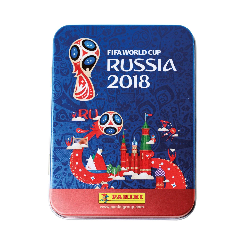 Panini FIFA World Cup 2018 Panini WM Russia 2018 - Sticker - 1 Tin Dose mit 5 Sticker Tüten (25 Sticker) 003497TINUK2