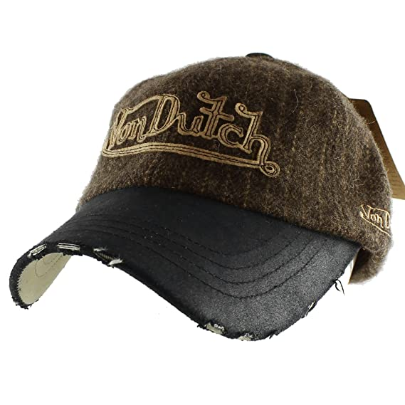 Authentic Von Dutch Striped Wool Casual Baseball Cap Adjustable Hat -  Black  Amazon.ca  Clothing   Accessories b0065b4c6ab0
