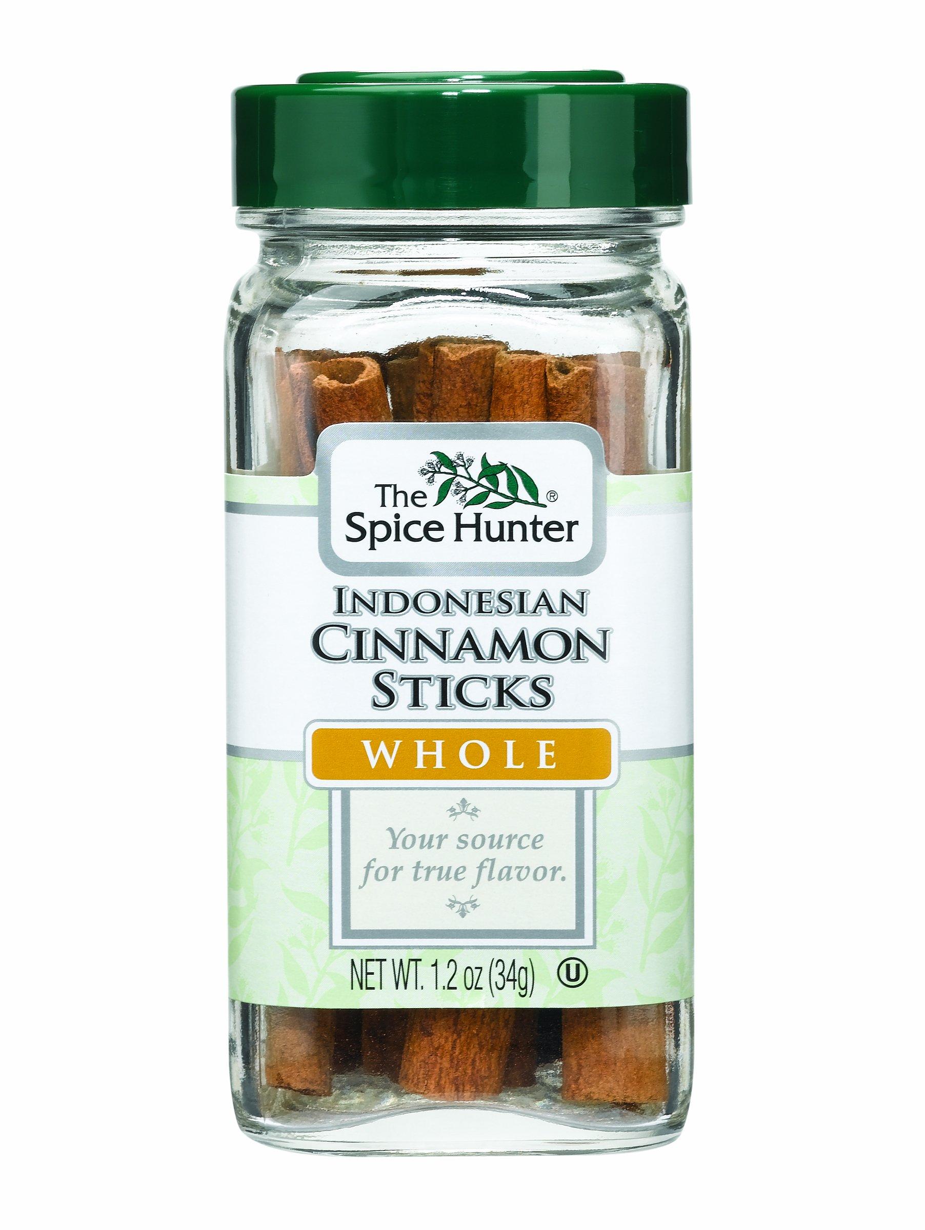 The Spice Hunter Indonesian Cinnamon Sticks, Whole, 1.2-Ounce Jar