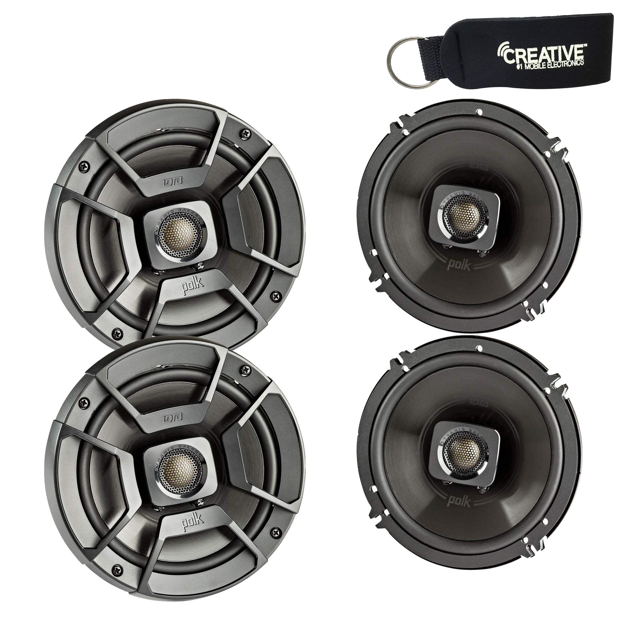 Polk Audio - Two Pairs of DB652 6.5'' Coaxial Speakers - Marine and Powersports Certification
