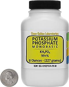 Potassium Phosphate Monobasic [KH2PO4] 99+% Fine Crystals 8 Oz in a Space-Saver Bottle USA