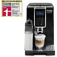 De'Longhi 德龙 Dinamica ECAM 350.55.B 全自动咖啡机(数字显示屏,内置牛奶系统, 背景灯按键,自动清洁,双杯功能,23,6 x 42,9 x 34,8 cm)黑色