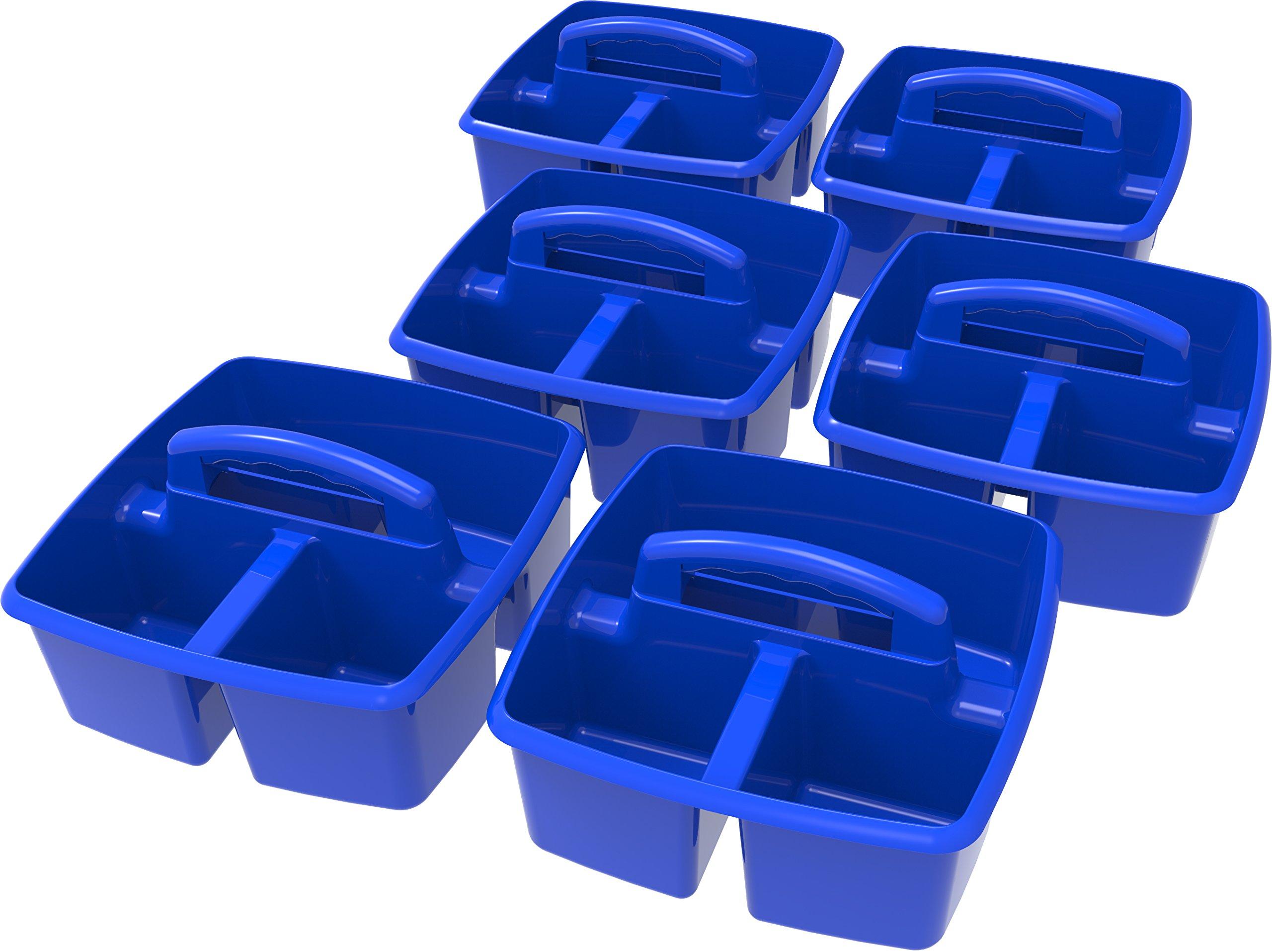 Storex Classroom Caddy, 9.25 x 9.25 x 5.25'', Blue, Case of 6 (00947E06C)