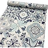LoveFaye, carta autoadesiva con motivo porcellana classico, impermeabile, per rivestire mensole, cassetti, armadi, 45cm x 3 m