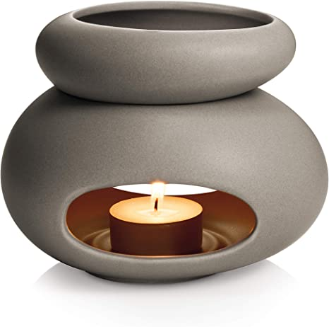 Tescoma 906832.43 Fancy Home Diffusore di Aromi, Ceramica Smaltata, Grigio, 1 Pezzo