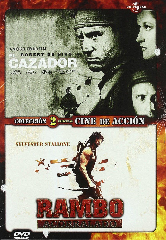 Pack Duo: El Cazador + Rambo 1: Acorralado [DVD]: Amazon.es: De Niro, Robert, John, Streep, Meryl, Stallone, Sylvester, Cimino, Michael, Kotcheff, Ted, De Niro, Robert, John, Spikings, Barry, Feitshans, Buzz: Cine y