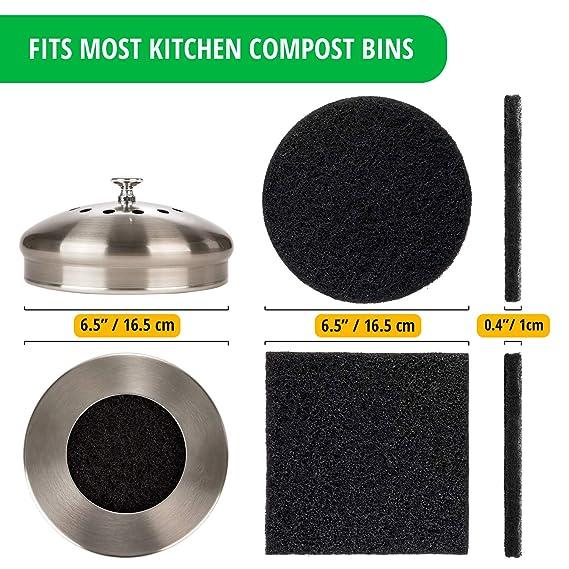 Amazon.com: Filtros para cubo de compost de cocina ...