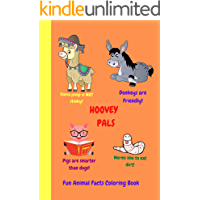 Fun Animals Facts Coloring Book: Hoovey Pals (English Edition)
