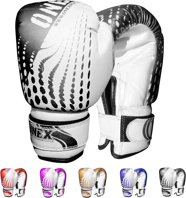 ONEX Guantoni da Boxe per Bambini Boxing Glove Punzonatura dei Guanti Lotta di MMA Guanti Kickboxing Allenamento Arti Marziali Guantoni da Allenamento 6oz