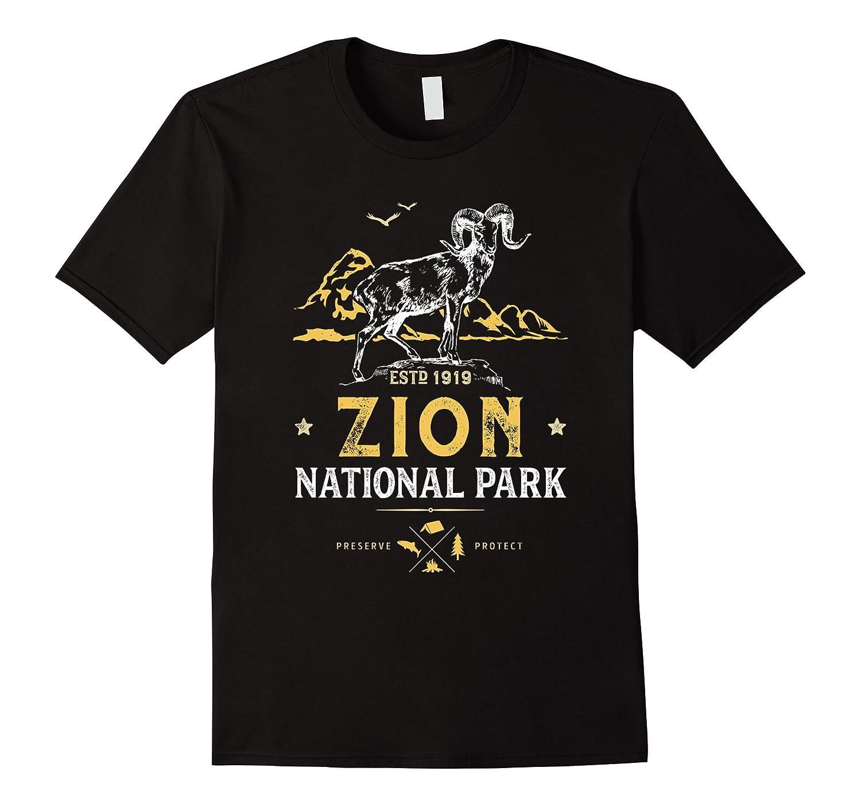 Zion National Park Vintage Bighorn Utah T Shirt Men Women-Art