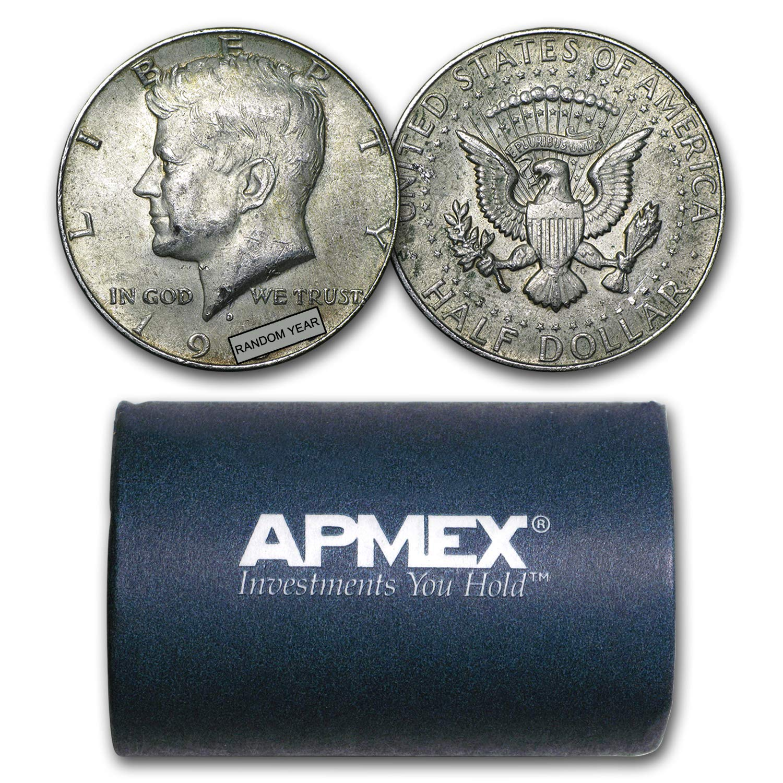 1965-1969 $10 Face-Value Roll 40/%Silver Kennedy Half-Dollars