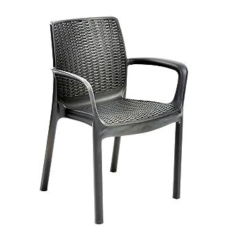Keter 888002 Bali sillas apilables - Negro/Grafito (Pack de 2 ...