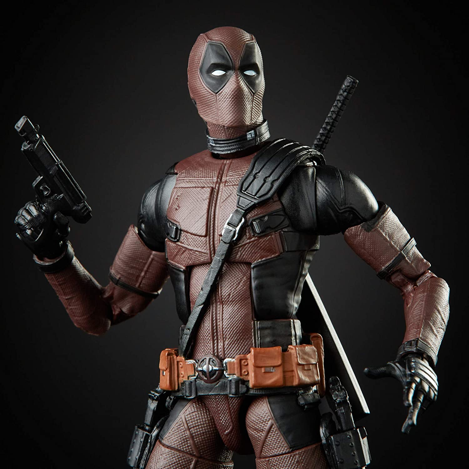 Hasbro Marvel Legends Series 6-inch Premium Deadpool Action Figure Toy From Deadpool 2 Movie and 11 Accessories For Ages 14 and Up