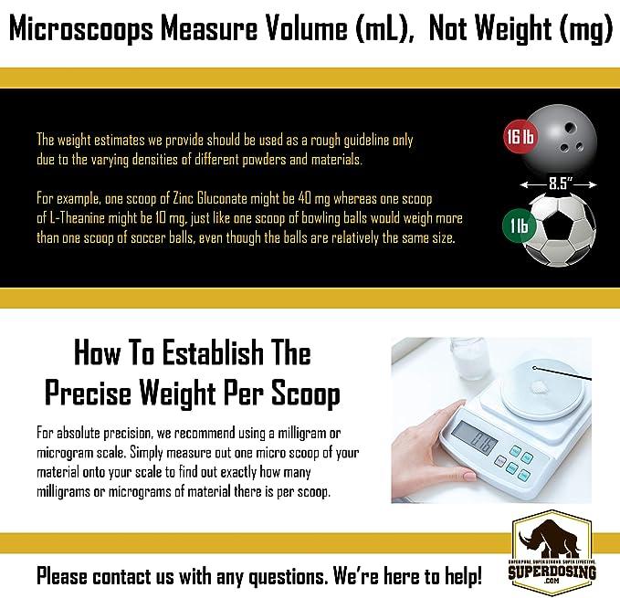 superdosing antiestático Micro pala 6 miligramo - 10 mg medición cucharas 25 unidades. Resistente diseño para fácil, sin problemas Nootropic polvo ...
