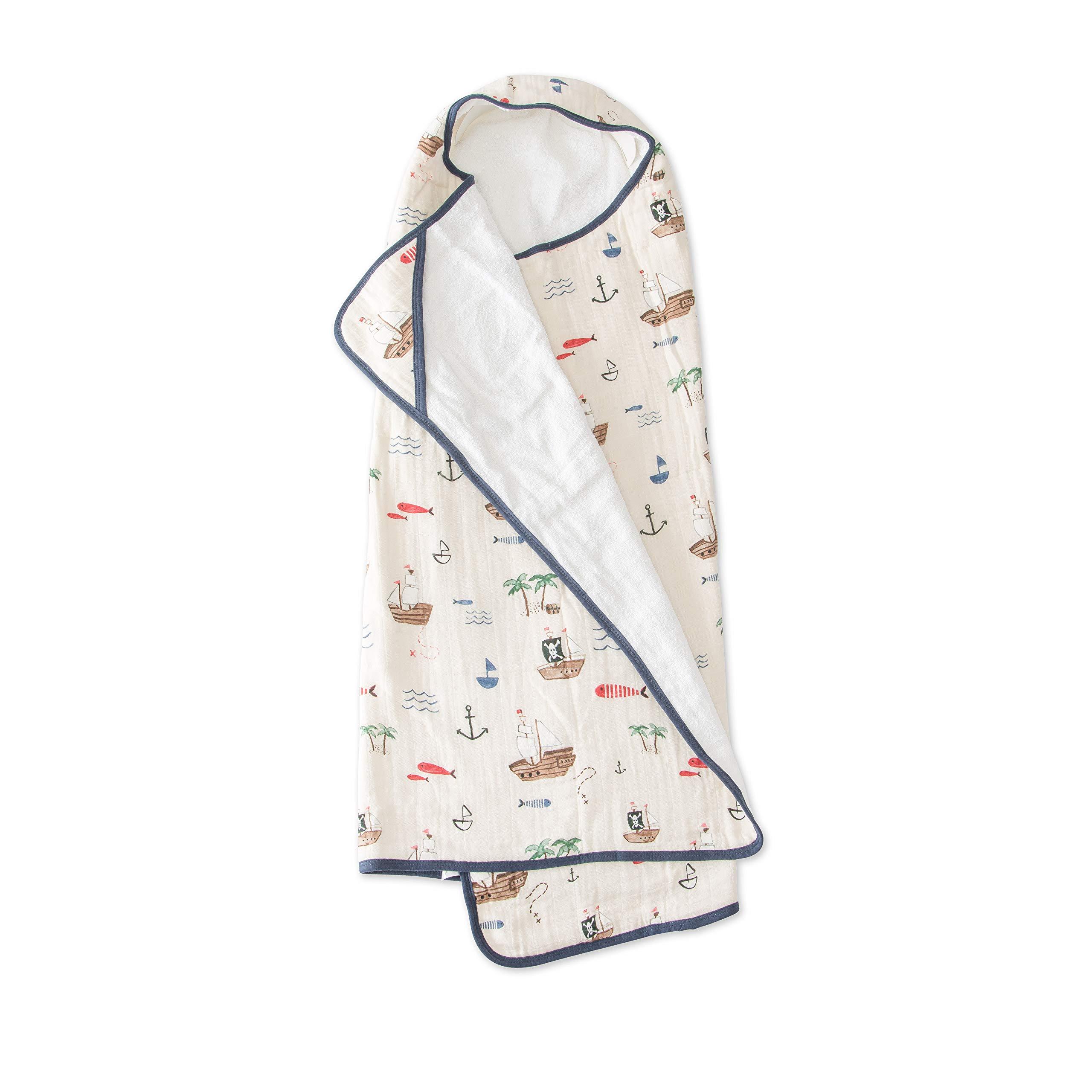 Little Unicorn Large Cotton Hooded Towel - Treasure Map by Little Unicorn (Image #1)