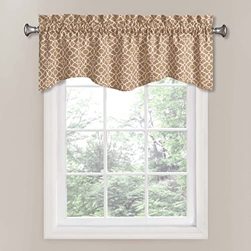 Waverly 12459050X016NAT Lovely Lattice 50-Inch by 16-Inch Window Valance, Natural