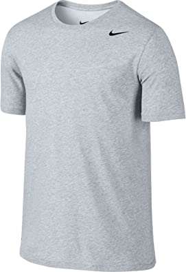 NIKE Dri-FIT Camiseta de algodón 2.0 para Hombre, Hombre, Manga Corta, 706625, Jaspeado de Abedul/Jaspeado de Abedul/Negro, Small: Amazon.es: Deportes y aire libre