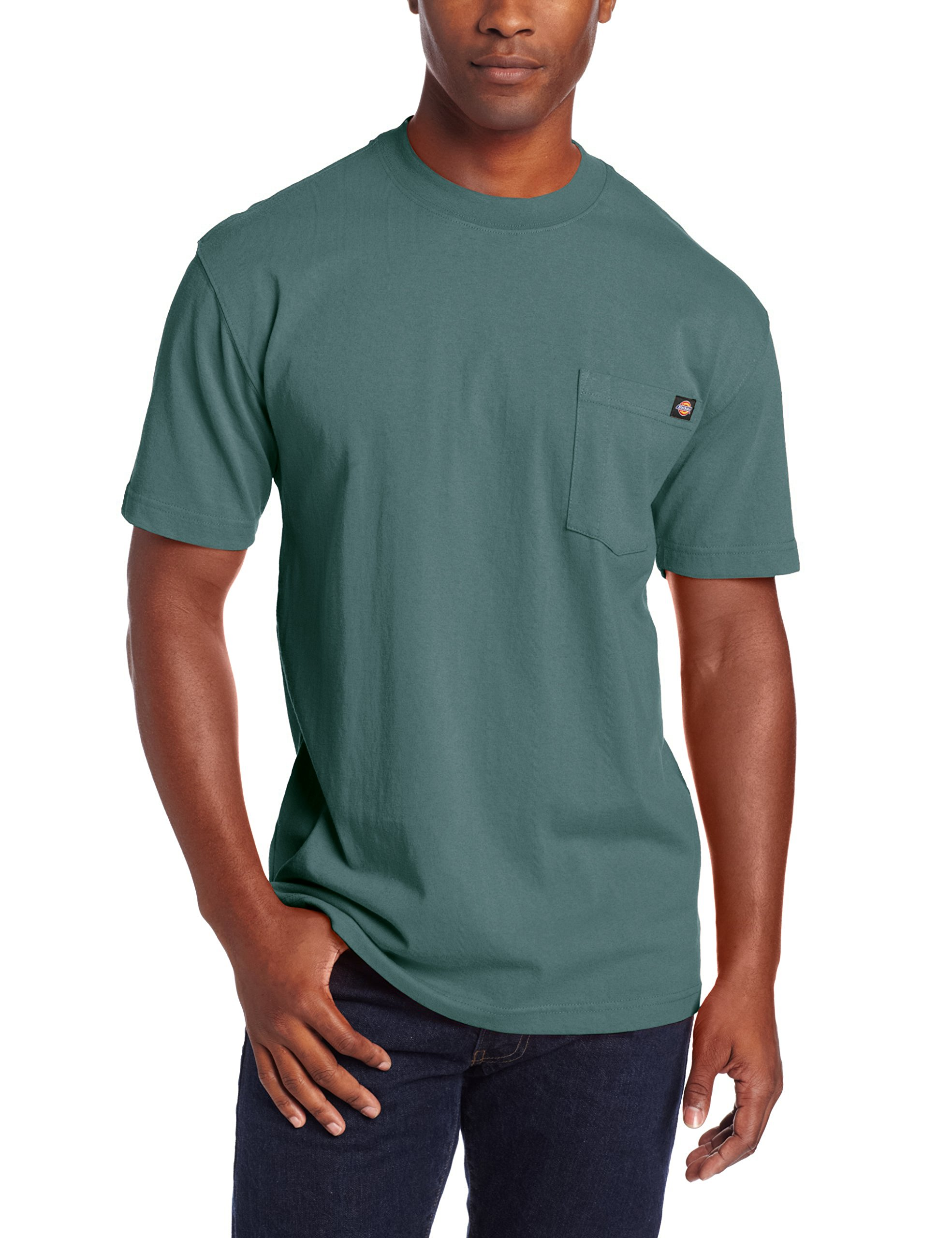 Dickie's Men's Heavyweight Crew Neck Short Sleeve Tee Big-tall,Lincoln Green,3X-Large Tall by Dickies