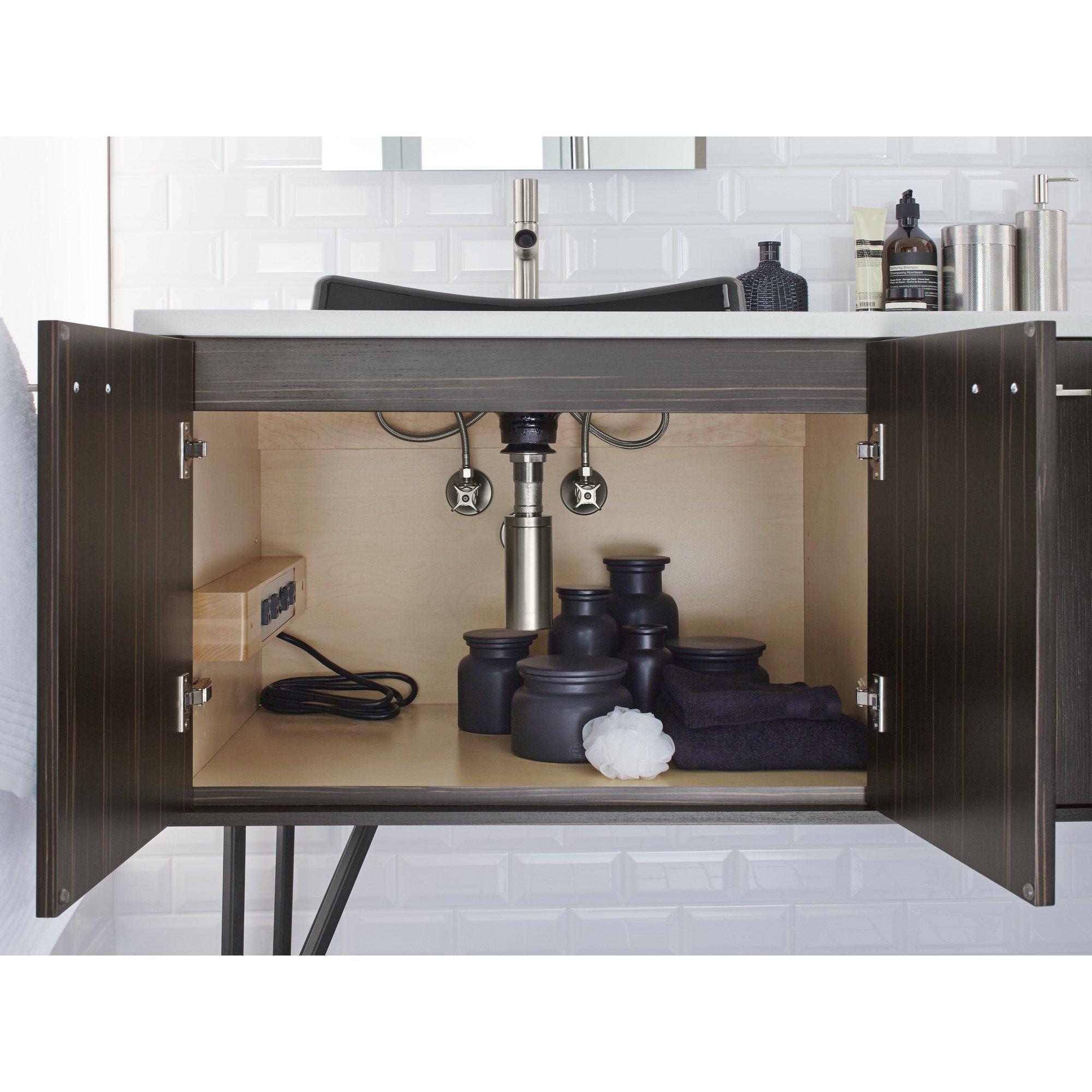 KOHLER K-99681-1WR Side-Mount Electrical Outlets for Tailored Vanities, Natural Maple by Kohler (Image #3)