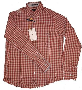 Tendedero para hombre camisa de cuadros Manhattan Popelina ...