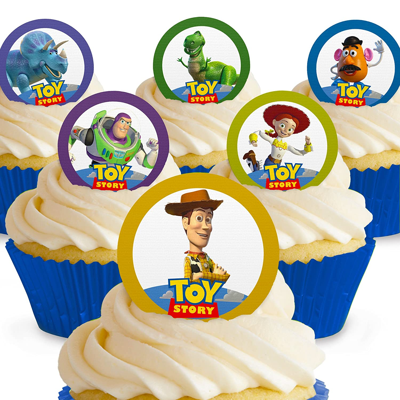 Cakeshop 12 x PRE-CUT Paw Patrol Edible Cake Toppers