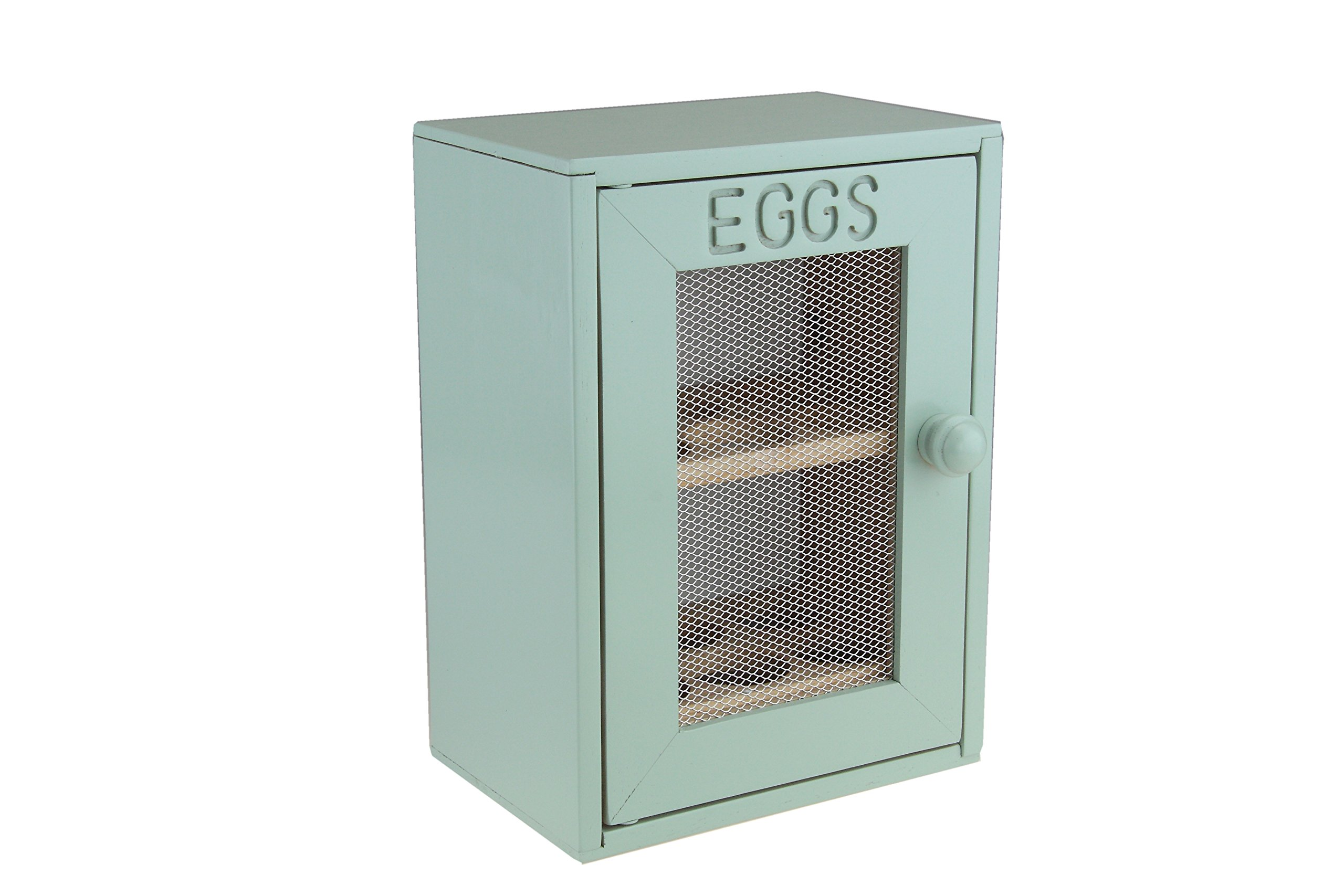 Apollo Wood Egg Cabinet, Mint/Green