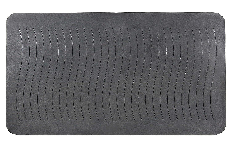 hjh OFFICE 721082 Tappetino antistress RESTART Nero per scrivanie alte e postazioni in piedi Zerbino ergonomico 89 x 49,5 x 2 cm