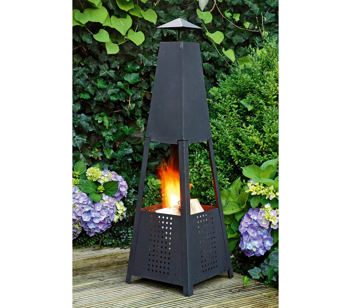 65865 Estufa a leña o carbón de jardín piramidal Altura C.A 100 cm. Media Wave Store®: Amazon.es: Hogar