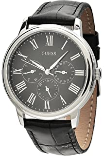 GUESS W70016G1,Mens Multi-Function Dress Sport,Leather Strap,Stainless Steel Case