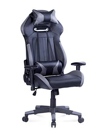 Killbee Large Gaming Chair Reclining Computer Chair Ergonomic Swivel Executive Office Chair, High Back Computer Desk Chair with Headrest and Lumbar Support Desk Chair,Gray